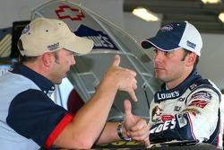 Chad Knaus and Jimmie Johnson