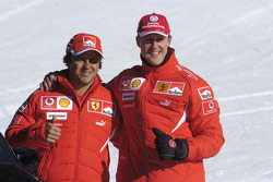 Michael Schumacher and Felipe Massa