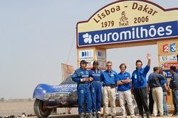 Car category podium: Thierry Magnaldi and Arnaud Debron