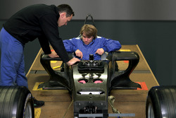 Nick Heidfeld tests the chassis of the BMW Sauber F1.06