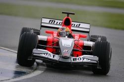 Tiago Monteiro tests the Midland MF1 Toyota