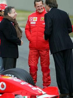 Felipe Massa, Jean Todt, Michael Schumacher and Luca di Montezemelo