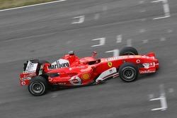 Michael Schumacher tests the new Ferrari 248 F1