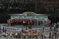 Overall view of victory lane