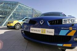 Renault cars on display