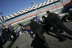 Cheever Racing team members head to practice