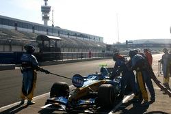 Pitstop practice for Heikki Kovalainen