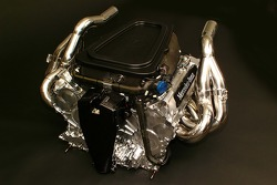 The new Mercedes-Benz Formula One engine FO 108S; V8 cylinders, 2.4 litre capacity, more than 19,000 rpm, more than 700 HP, 95kg