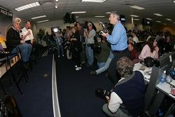 Press conference: Tonight Show host and pace car driver Jay Leno meets the media