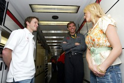 Recording artist Jewel meets Kasey Kahne and Ray Evernham