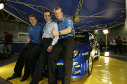 Petter Solberg and Chris Atkinson with Mexico President Armando Martinez