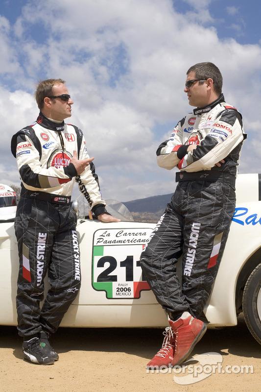Honda Racing F1 Team's Rubens Barrichello and Team Sporting Director Gil de Ferran travelled to Oaxa