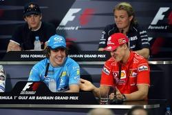 FIA press conference: Fernando Alonso and Michael Schumacher