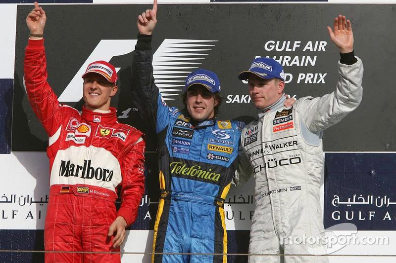 Перша перемога у 2006 році - непоганий подіум був на Гран Прі Бахрейну