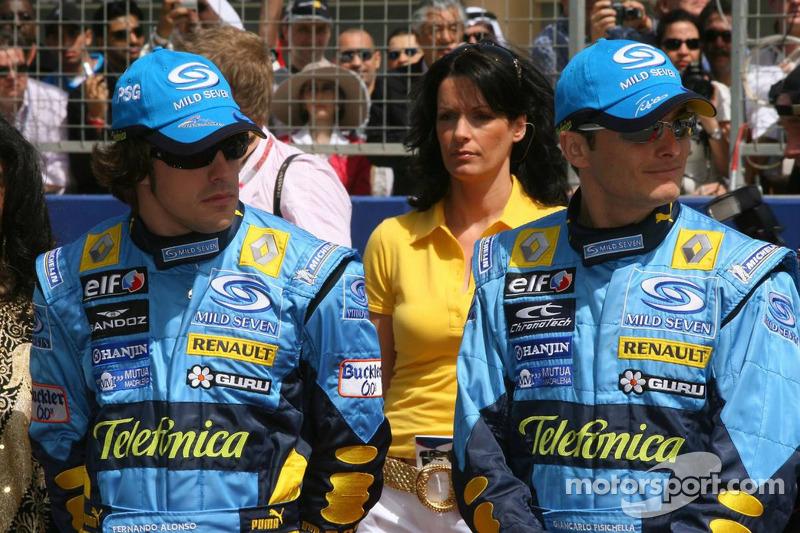 Fernando Alonso y Giancarlo Fisichella