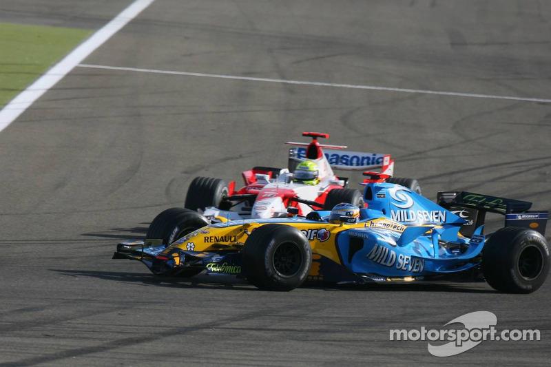 Fernando Alonso and Ralf Schumacher