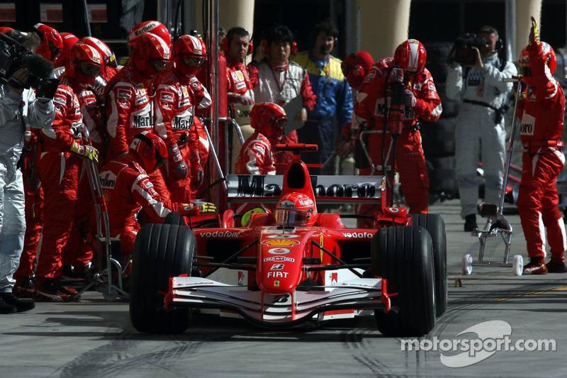 Pitstop for Michael Schumacher