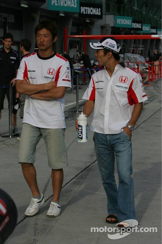 Takuma Sato et Yuji Ide