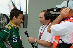Pedro Lamy does a TV interview
