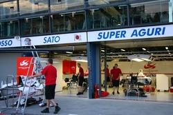 Super Aguri F1 garage area