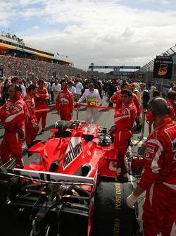 Ferrari team members at work