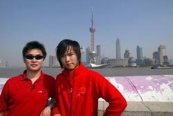Tengyi Jiang (CHN) A1 Team China and Qinghua Ma (CHN) A1 Team China in Shanghai
