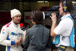 Ananda Mikola (INA) A1 Team Indonesia is interviewed by Lee Mackenzie (GBR) A1 TV