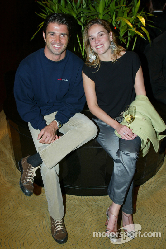 Christian Fittipaldi (BRA) A1 Team Brazil and his wife