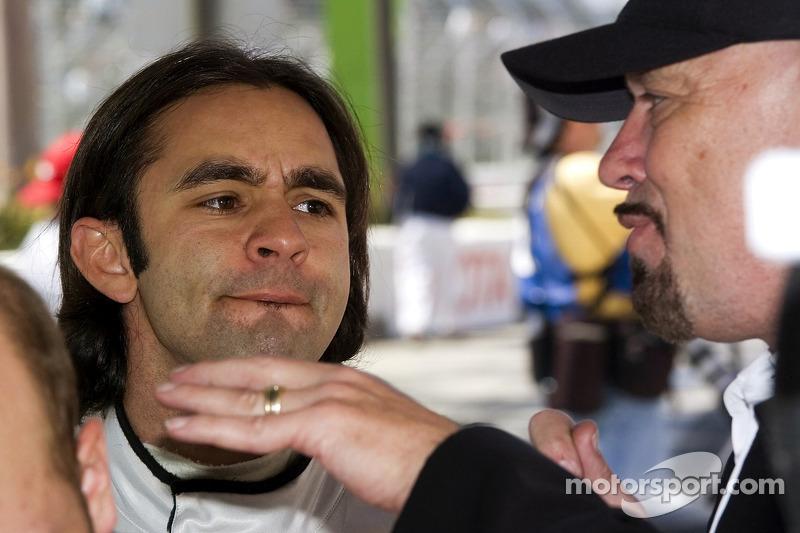 Paul Gentilozzi parle avec son pilote Antonio Pizzonia