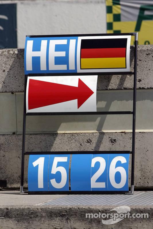 Panneau de piste de Nick Heidfeld