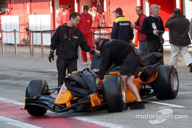 Voiture de test McLaren