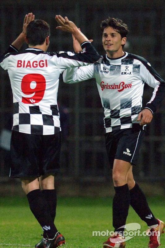 Les champions font un match de charité, Ravenna's Benelli Stadium: Giancarlo Fisichella