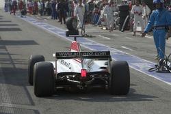 Lewis Hamilton takes his drive through penalty