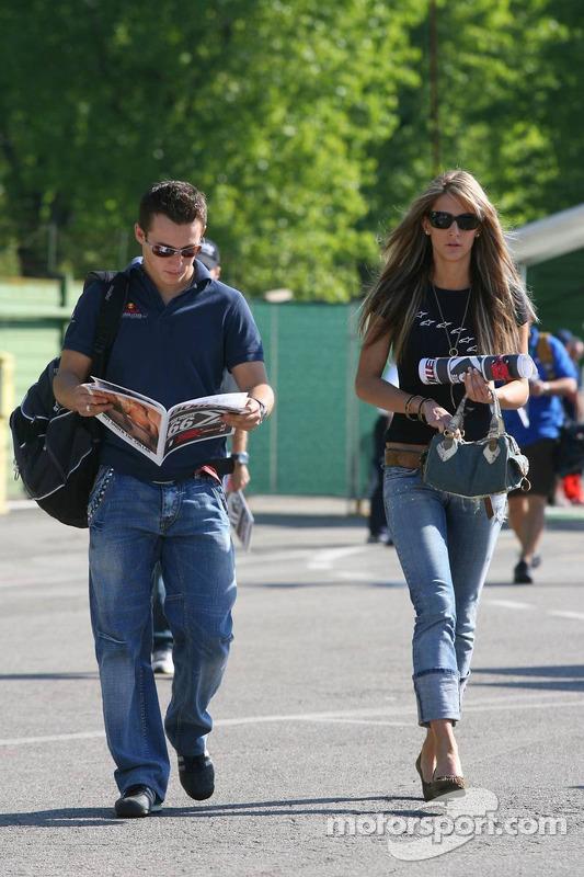 Christian Klien avec sa petite-amie Franziska