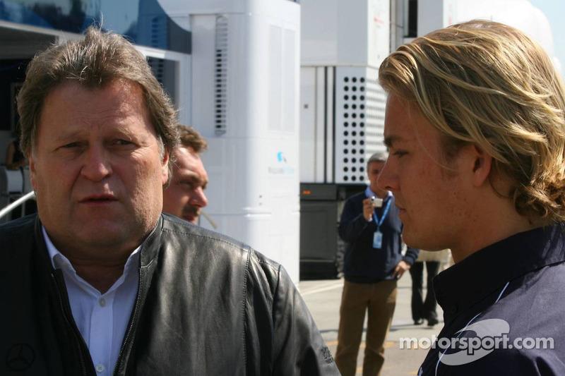 Norbert Haug avec Nico Rosberg