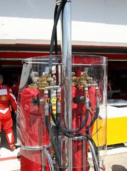 Fueling station of Ferrari