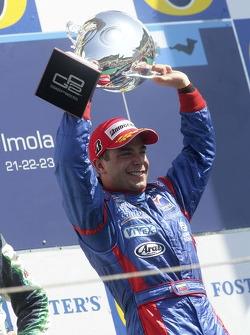 Podium: race winner Ernesto Viso celebrates