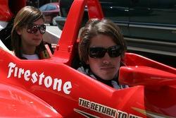 Arie Luyendyk Jr. and sports reporter for Fox 6 Milwaukee Jen Lada as a passenger