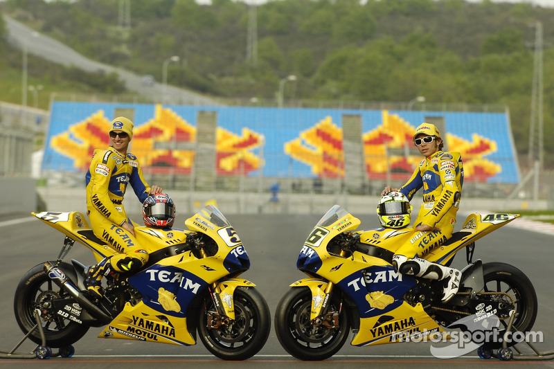 Séance photos: Colin Edwards et Valentino Rossi