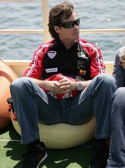 Jose Luis Cardoso cruises the Bosphorus in Istanbul