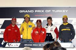 Press conference: Marco Melandri, Valentino Rossi and Loris Capirossi