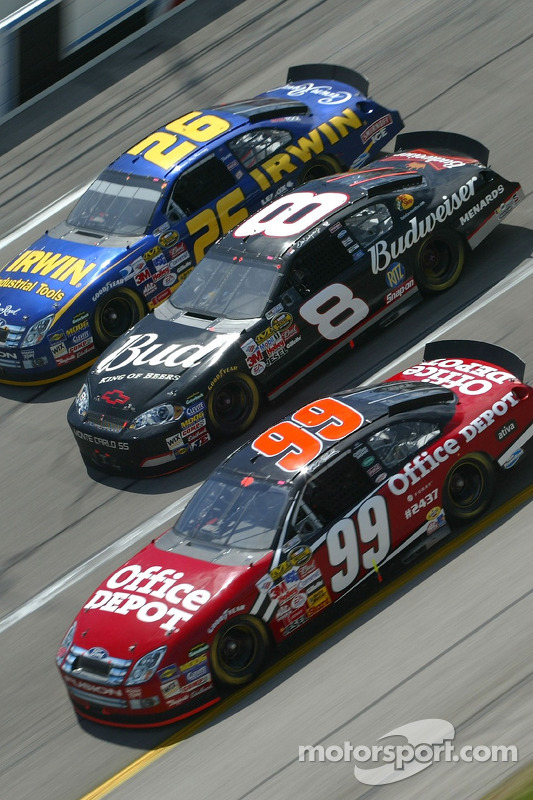 Carl Edwards, Dale Earnhardt Jr. et Jamie McMurray
