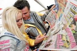 Seat Leon Supercopa: Cora Schumacher with her manager Alain Midzic