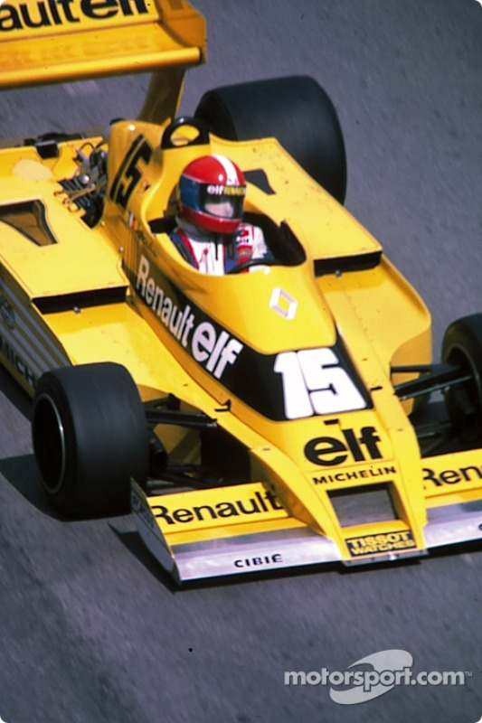jean pierre jabouille renault rs01 at monaco gp. Black Bedroom Furniture Sets. Home Design Ideas
