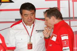 Hisao Suganuma and Jean Todt