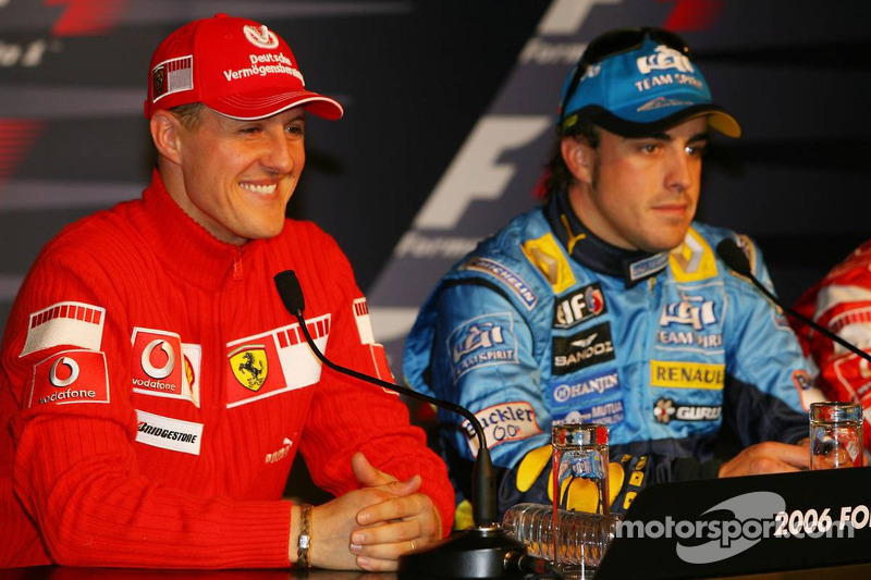 Conférence de presse: Fernando Alonso avec Michael Schumacher