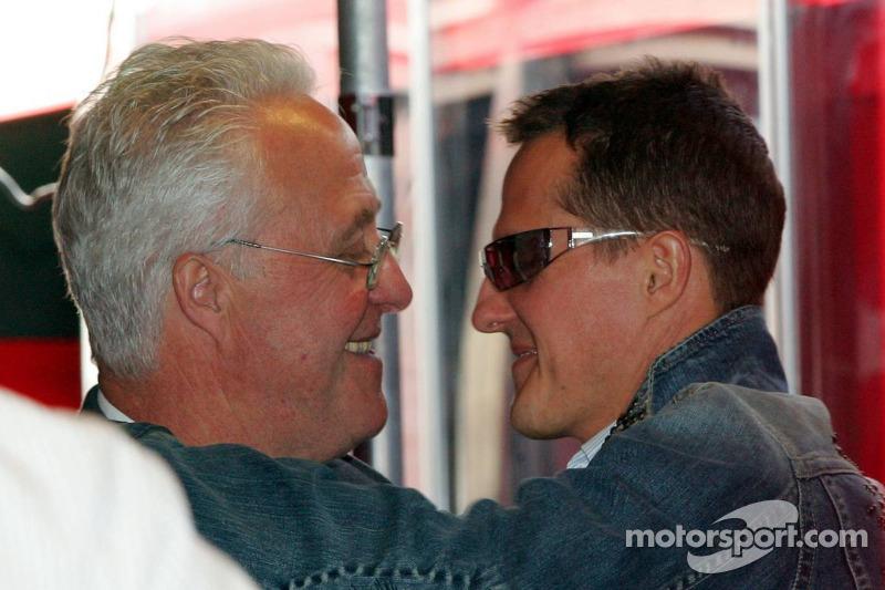 Rolf Schumacher et Michael Schumacher