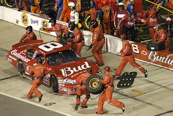 Dale Earnhardt Jr. gets new tires and some fuel