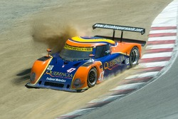 #47 into the gravel at the corkscrew
