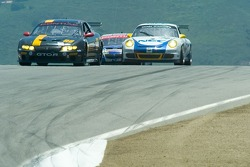 Race action at the top of the hill